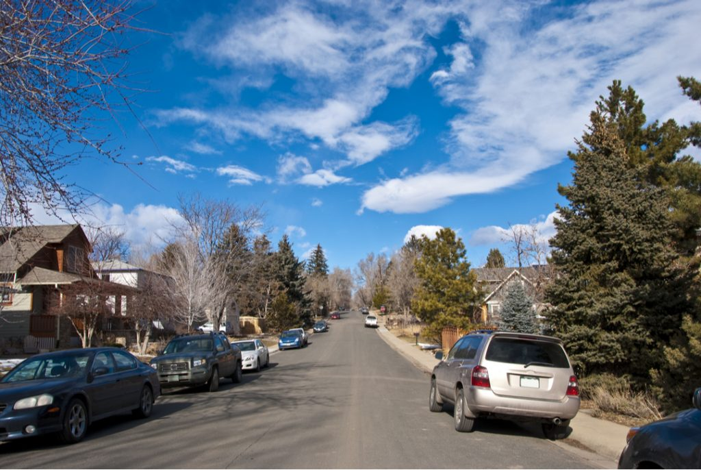 quiet neighborhood street near fort carson real estate in colorado